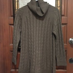 Vintage Turtle-Neck Cardigan-Women's M